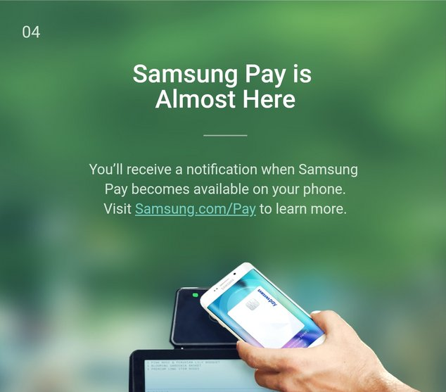 samsung pay landing page