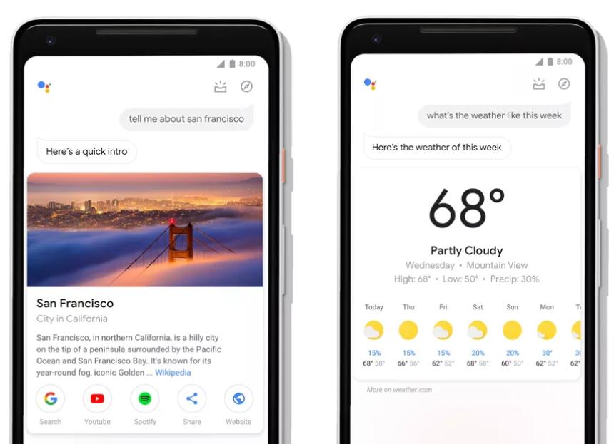 Google Assistant design