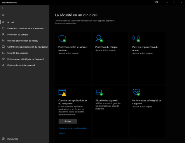 sécurité windows / windows security october update 2018