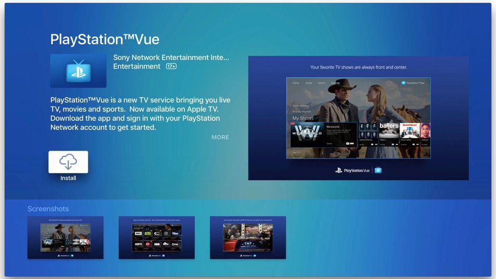 Apple TV est désormais compatible avec PlayStation Vue