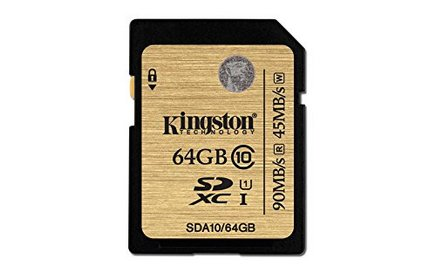 Kingston SDA10SDHC / Secure Digital High Capacity SDXC 64 Go 90MB/s