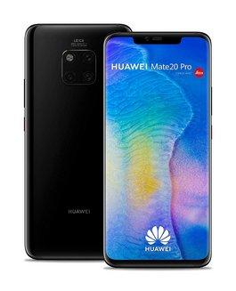 """Huawei Mate 20 Pro NoirMonobloc smartphone avec autofocus avec écran tactile Basique avec stabilisateur d'image avec détection des visages avec correction des yeux rouges Android avec flash LED 4G LTE Smartphone Double SIM 4G Téléphone portable 6,4"""" pouces Classique 189 g 6 Go 4G+ avec APN 24 Mpixels avec zoom numérique avec Zoom numérique 4x Mate 20 Pro Kirin 980 128Go Avec APN 40 Mpixels nanoSD Noir"""