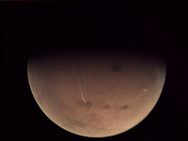 Nuage sur Mars