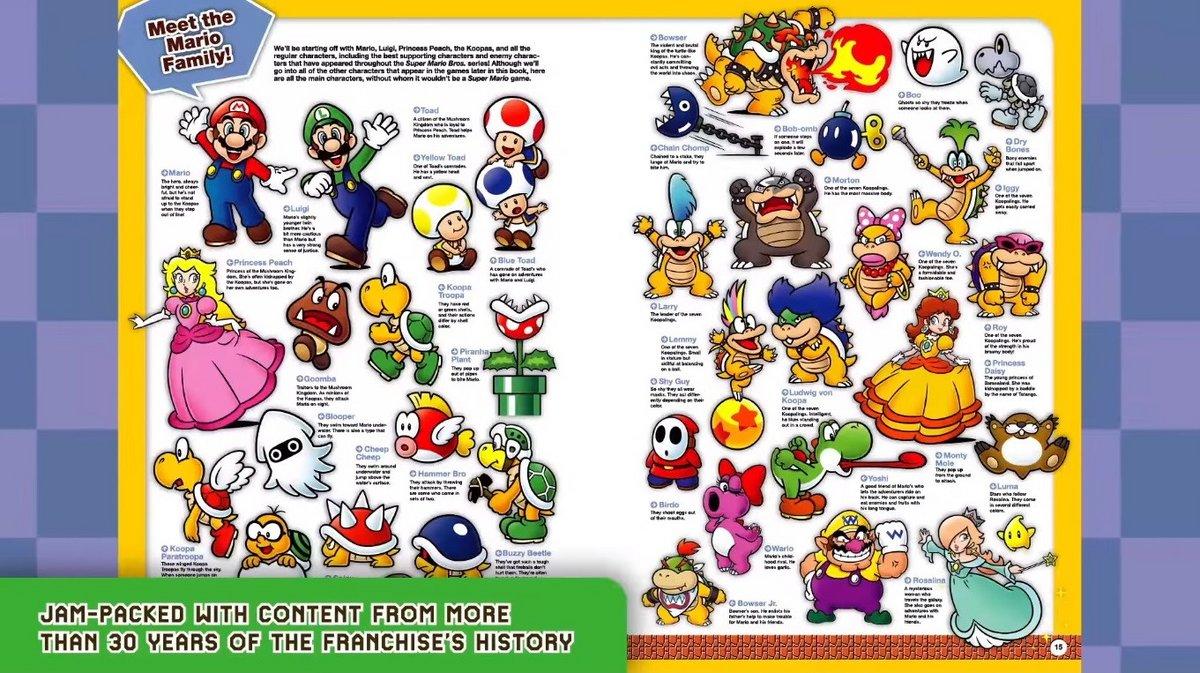 Super Mario Encyclopédie exemple