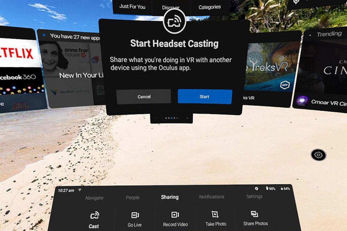 Oculus Go cast