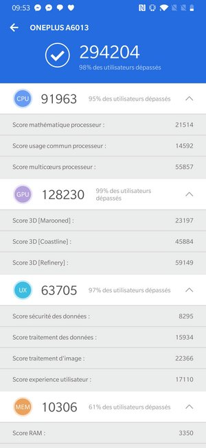 oneplus 6t - test