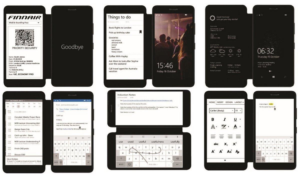 Microsoft smartphone e-ink