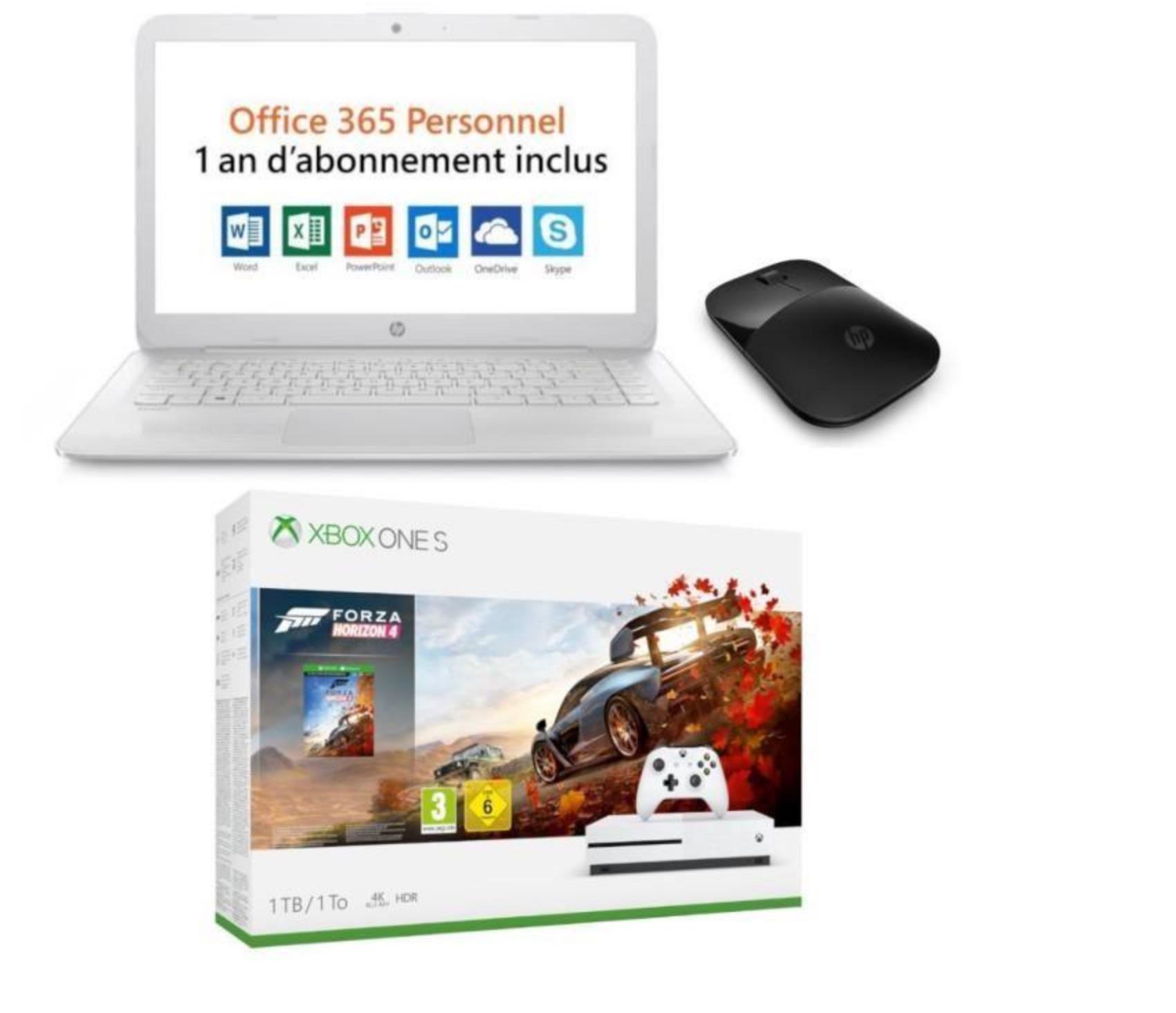 Le Pc Portable Hp Stream 14 Avec Souris Xbox One S Forza