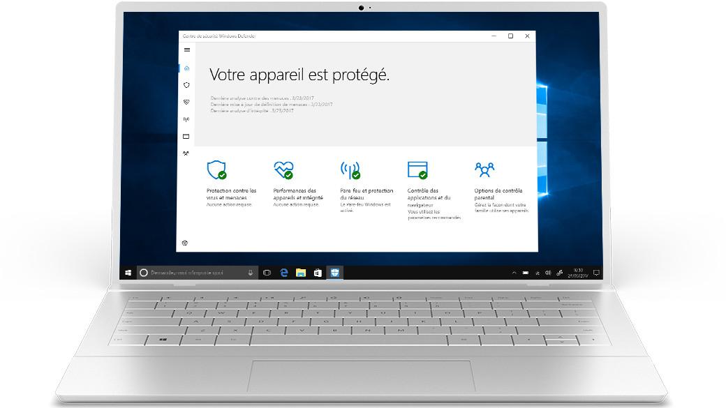 Windows Defender Sécurité