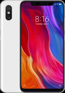 Xiaomi Mi 8 Blanc 64GoMonobloc avec flash avec autofocus avec stabilisateur d'image Android avec APN 12 Mpixels 4G LTE Smartphone Double SIM avec APN 20 Mpixels 175 g 6 Go Bluetooth 5.0 6,2 pouces 2,8 GHz Qualcomm Snapdragon 845 Blanc 64 Go Mi 8