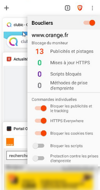 brave pour android