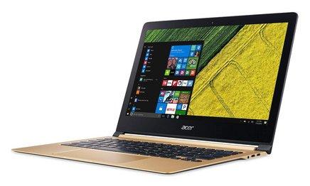 Acer Swift 7 Noir Or1920 x 1080 8 Go 256 Go 1,20 kg 13,3 pouces 10 Heure(s) Intel HD Graphics 615 Windows 10 Professionnel 64 bits Dual Core Intel noir et or