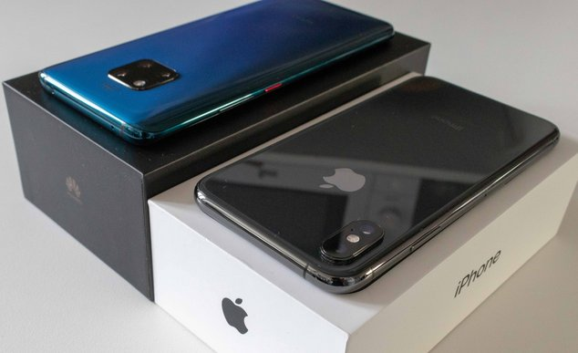 iphone xs vs huawei mate 20 pro