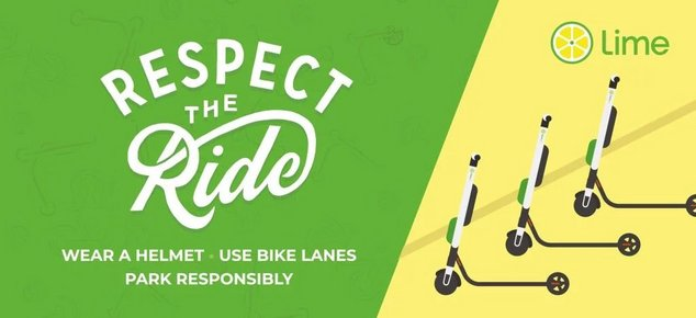 Lime Respect the Ride
