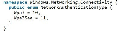 SDK Windows 10 WPA 3