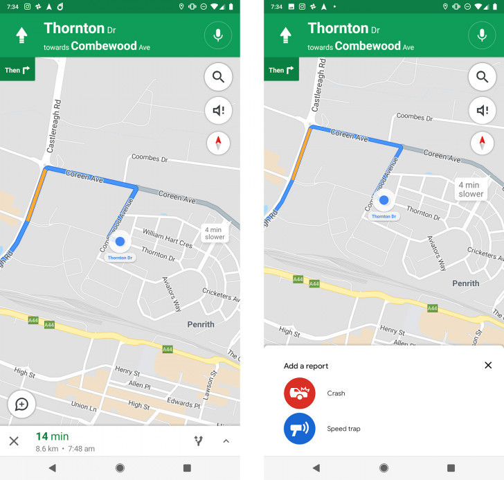 Signalement Google Maps