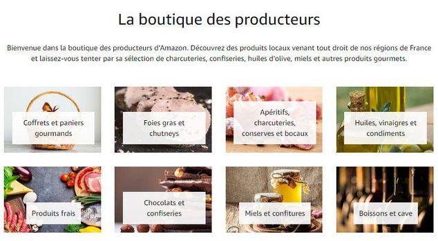 amazon boutique producteurs