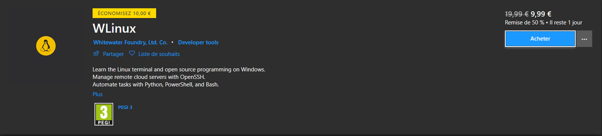 WLinux Windows Store