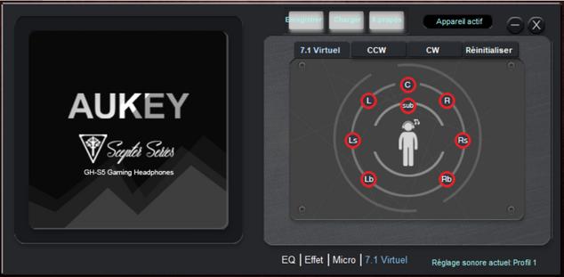 aukey gh-s5 logiciel son spatialisé