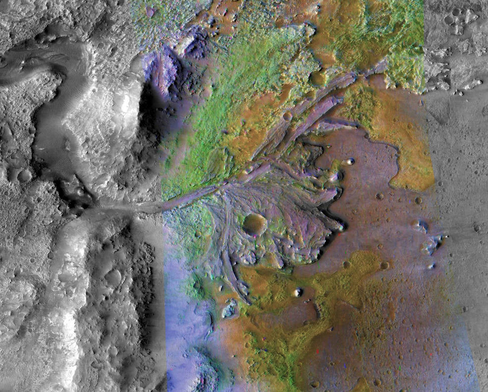Cratère de Jezero - Mars