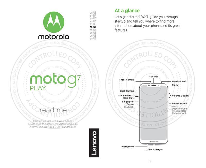 Moto G7 Play fuite