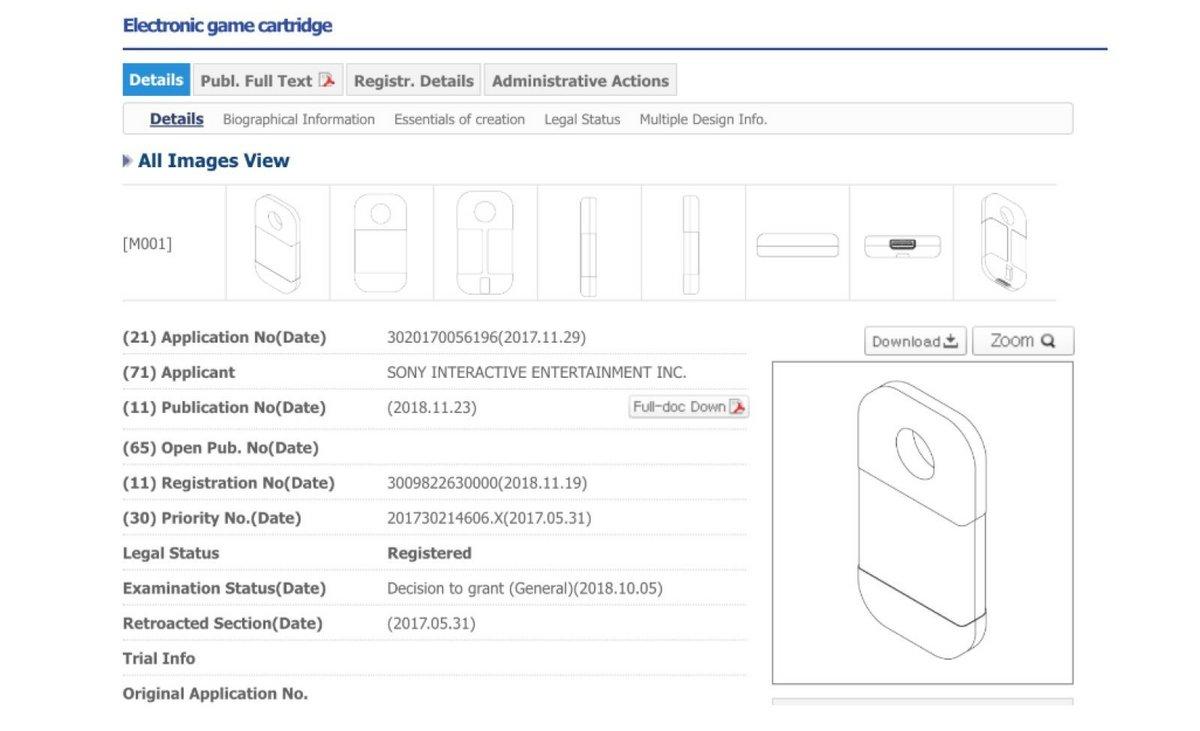 brevet cartouche Sony