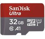 La carte microSDHC Sandisk 32Go Classe 10 + adaptateur à 9,45€ au lieu de 14€