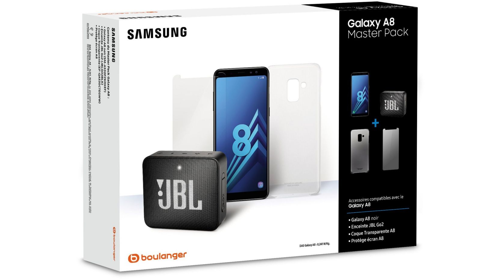 bon plan pack samsung a8 enceinte jbl go 249 au lieu de 369. Black Bedroom Furniture Sets. Home Design Ideas