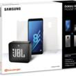 Le pack Samsung A8 + coque + verre trempé + enceinte JBL Go