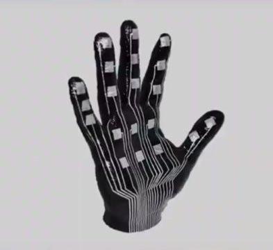 Peau électronique main petit
