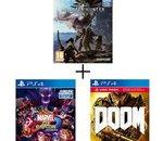 Le pack Monster Hunter World + Marvel vs Capcom Infinite + Doom sur PS4 à 34 euros