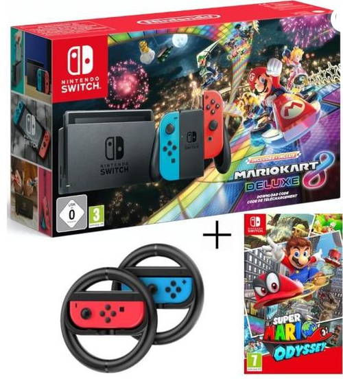 s lection cdiscount 4 packs nintendo switch mario kart8 deluxe mettre sous le sapin. Black Bedroom Furniture Sets. Home Design Ideas