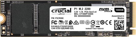 Crucial P1 1 ToInterne SSD 160,0 g M.2 1 900 MB/s 1 To