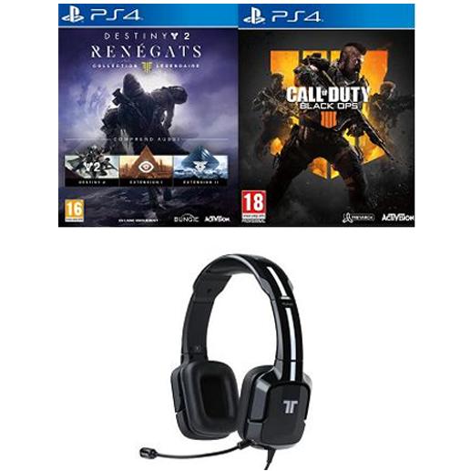 Call of Duty : Black Ops 4 + Destiny 2 + Casque Tritton Kunai à 69,99 euros