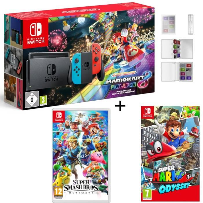 s lection cdiscount 5 packs nintendo switch mario kart 8 deluxe pour no l. Black Bedroom Furniture Sets. Home Design Ideas