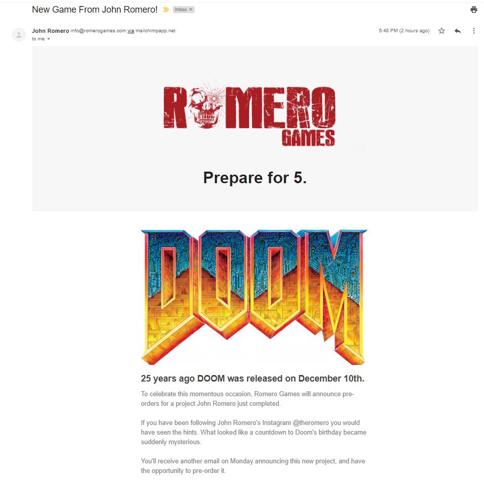 John Romero Doom 5