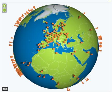carte des serveurs nperf
