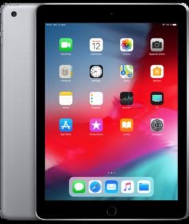 """Apple iPad 9.7"""" Wi-Fi 32Go Gris sidéral9,7 pouces iPad 2 Go 10 Heure(s) iOS 2048 x 1536 LED Tactile Lightning Apple A10 Apple A10 Fusion 1 x Casque (Jack 3.5mm Femelle) iOS 12 32Go 469 g"""