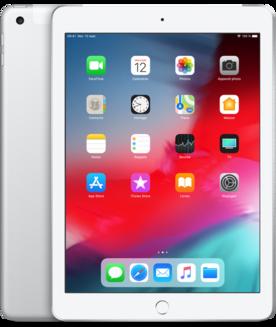"""Apple iPad 9.7"""" Wi-Fi + Cellular 32Go Argent9,7 pouces iPad 2 Go 10 Heure(s) iOS 2048 x 1536 LED Tactile Lightning Apple A10 Apple A10 Fusion 1 x Casque (Jack 3.5mm Femelle) iOS 12 32Go 478 g"""
