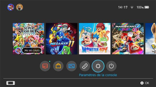 Nintendo Switch MAJ