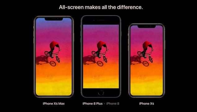iphone xs notch marketing