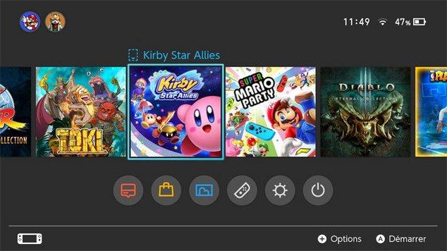 switch jeux maj
