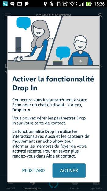 activer drop in