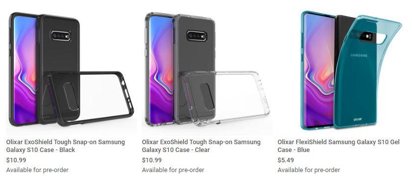 Samsung Galaxy S10 fuite design