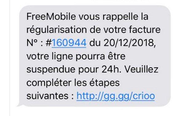 free mobile smishing