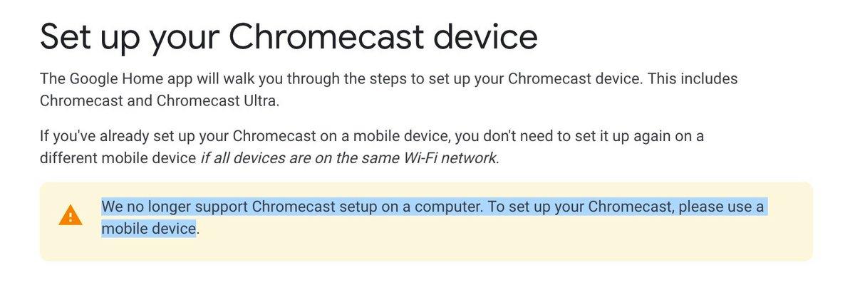Google Chromecast Chrome 72