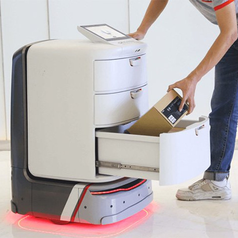 ces 2019 segway pr sente son robot livreur autonome et. Black Bedroom Furniture Sets. Home Design Ideas
