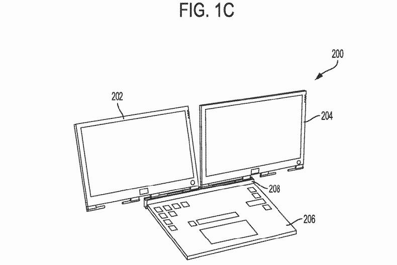 DELL PC portable double écran brevet 2
