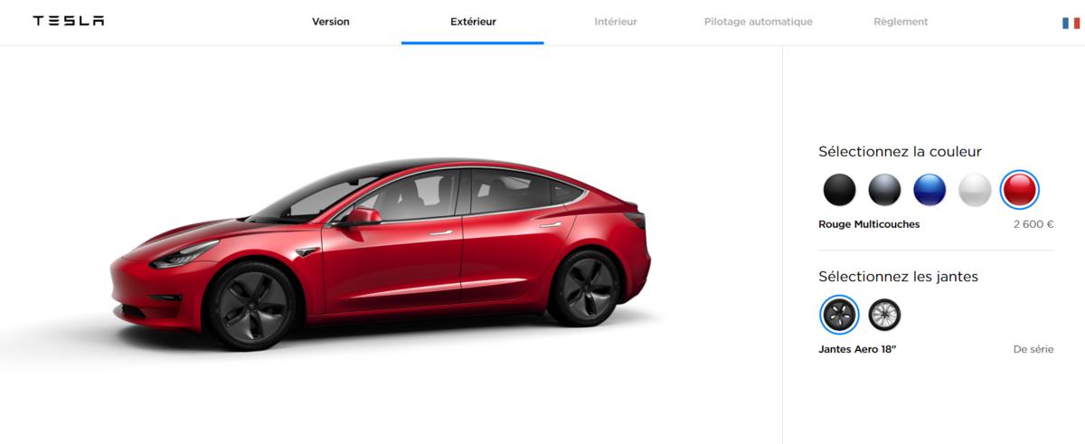 Tesla configurateur