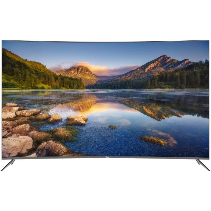 soldes 2019 smart tv haier le55q6500u 4k hdr incurv e 55 399 99. Black Bedroom Furniture Sets. Home Design Ideas